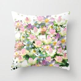 Lotus bloom Throw Pillow