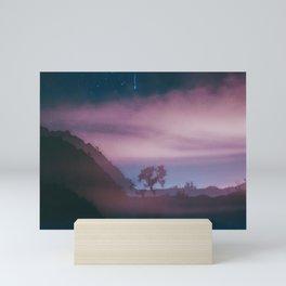 dreamy Joshua Tree at night Mini Art Print