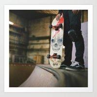 skate Art Prints featuring Skate by Sarah Rose