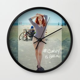 Freshie on the Beach by Isaiah Mays Wall Clock