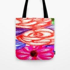 Roses and Daisies Tote Bag