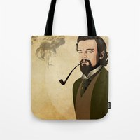 django Tote Bags featuring Django  by William Rutherford