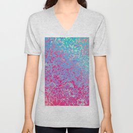Colorful Corroded Background G284 Unisex V-Neck