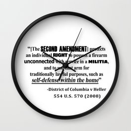DC v Heller Second Amendment Case Law Wall Clock