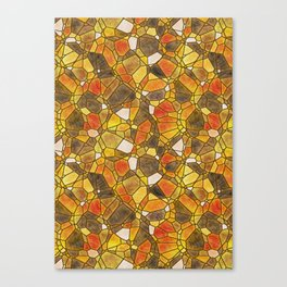 stained glass mosaic Canvas Print