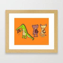 A is for Jerks! Framed Art Print
