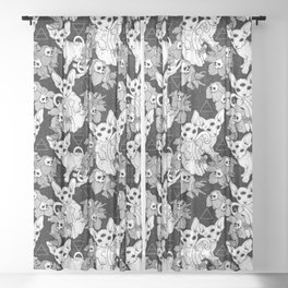 Witchy Familiars Sheer Curtain