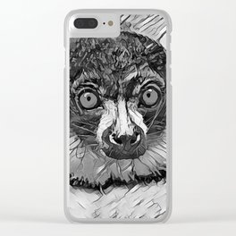 AnimalArtBW_Vari_20170601_by_JAMColorsSpecial Clear iPhone Case