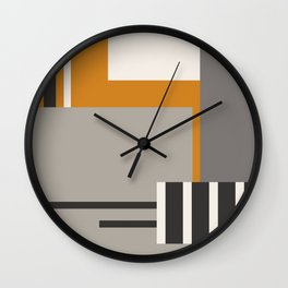 PLUGGED INTO LIFE (abstract geometric) Wall Clock