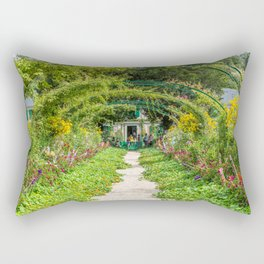 Monet's Garden Rectangular Pillow