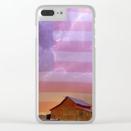 American Country Storm Clear iPhone Case