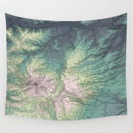 Mount Hood, Oregon Topographic Contour Map Wall Tapestry