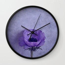 Purple Wave Wall Clock