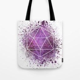 d20 Icosahedron Crystal Wind Tote Bag