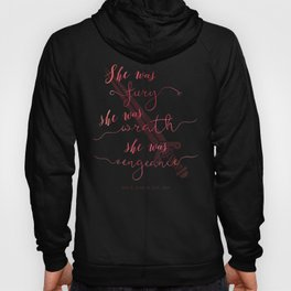 Queen of Shadows Book Quote Design Hoody
