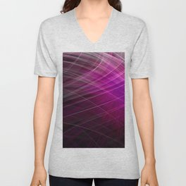 Linear Pattern-Purple Unisex V-Neck