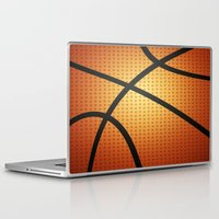basketball Laptop & iPad Skins featuring Basketball by Debra Ulrich
