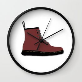 Dr Martens Red Boots Wall Clock