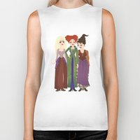 hocus pocus Biker Tanks featuring Hocus Pocus Illustration by Shop Sarah Alyson