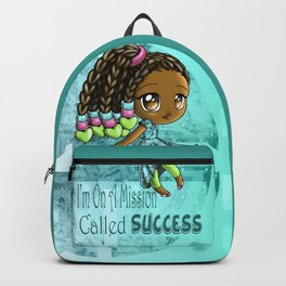 Happy African American Girl Backpack