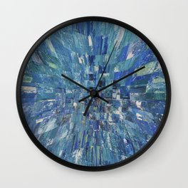 Abstract blue pattern 5 Wall Clock