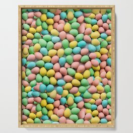 Mini Egg Milk Chocolate Easter Candy Pattern Serving Tray