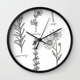 Kitchen Herbs Wall Clock