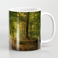 woodland Mugs featuring Woodland by ZenaZero