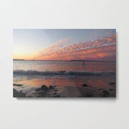 Paddle boarding in Australia - Peaceful Seascape in Noosa, Queensland Metal Print