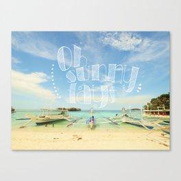 Oh Sunny Days Canvas Print