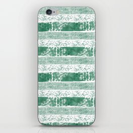 Pastel green watercolor paint brushstrokes confetti stripes iPhone Skin