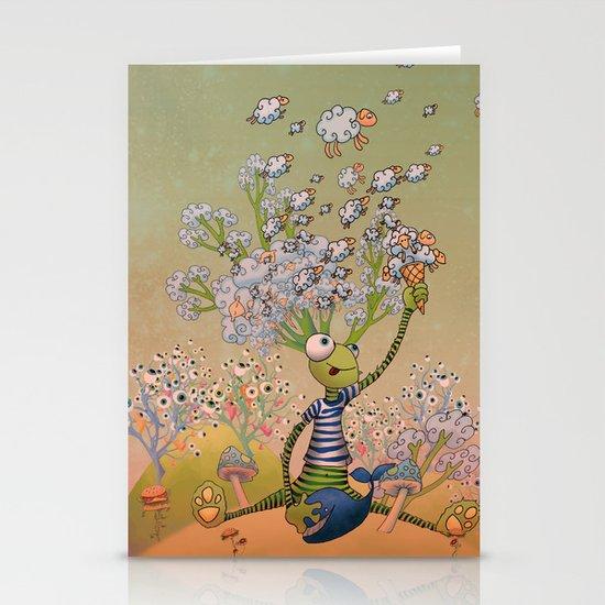 Misty mind Stationery Cards