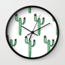 Cactus Flower II Pattern Wall Clock