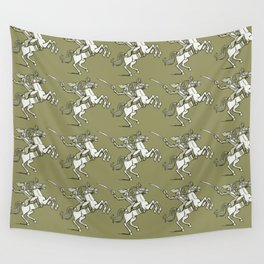 horse officer rides on a horse Wall Tapestry