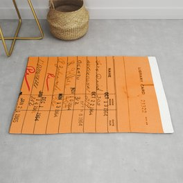 Library Card 23322 Orange Rug