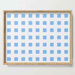 square and tartan 48- light blue Serving Tray