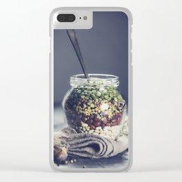 Lentils Clear iPhone Case