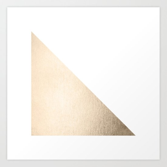 Simply Shadow in White Gold Sands Art Print