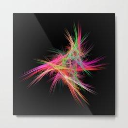 Fluffy neon Metal Print