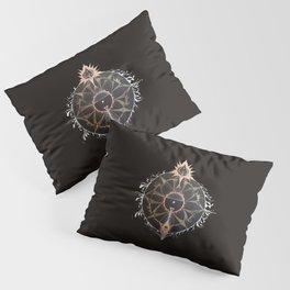 Saraswati Mandala Black Pillow Sham