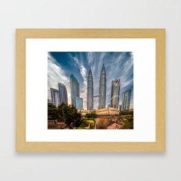 Twin Towers KL Framed Art Print