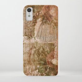 Vintage & Shabby Chic - Victorian ladies pattern iPhone Case