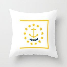 flag,rhode island,america,usa,Ocean State,Little Rhody,Rhode Islander,Providence,Warwick,Cranston Throw Pillow