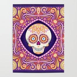 Cute Sugar Skull - Day of the Dead Skull Art by Thaneeya McArdle Poster