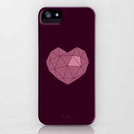 Heart blue iPhone Case