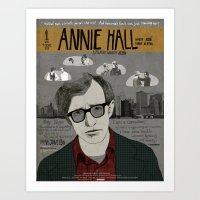 annie hall Art Prints featuring Annie Hall Movie Poster/ Woody Allen by Armineh Moghadasi