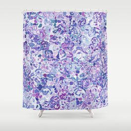 Blue and Purple Blobs Shower Curtain