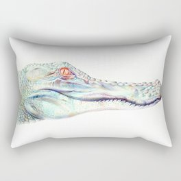 Albino Alligator Rectangular Pillow