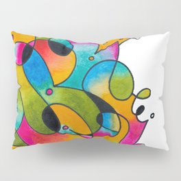 Abstract Gradient Critters Pillow Sham