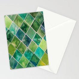 green tiles Stationery Cards